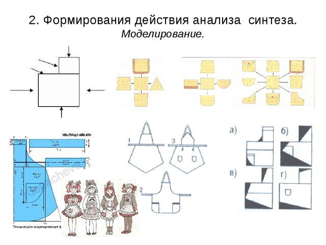 2. Формирования действия анализа синтеза. Моделирование.
