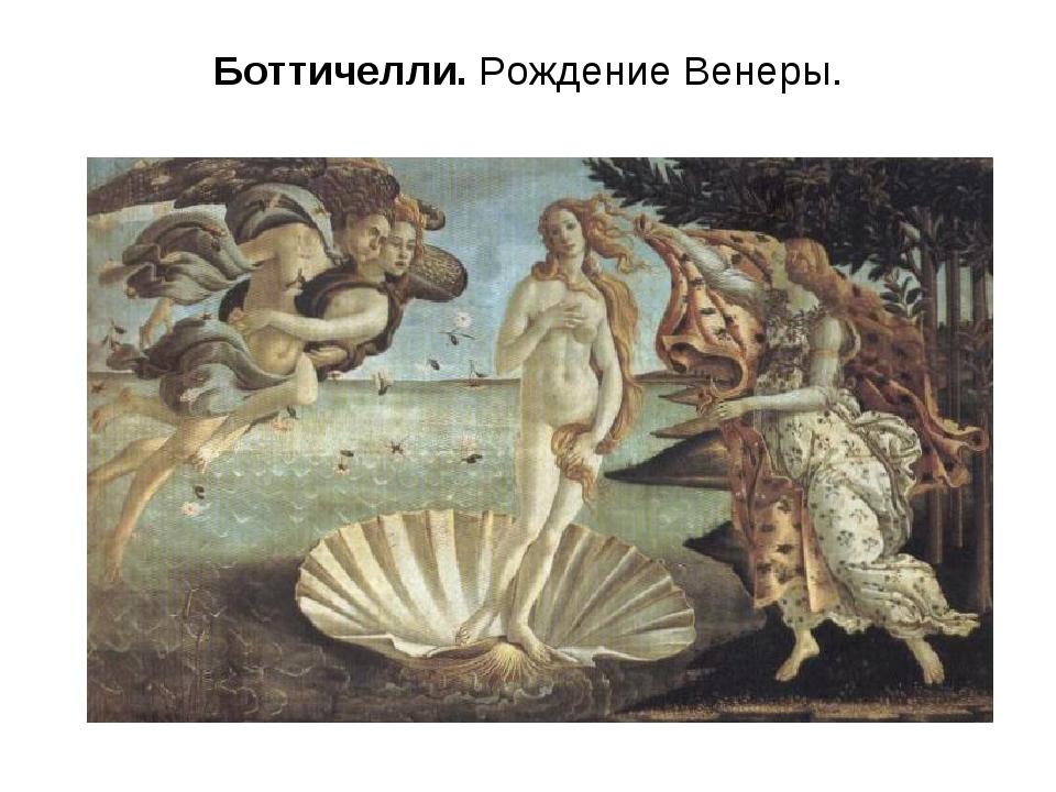 Боттичелли. Рождение Венеры.