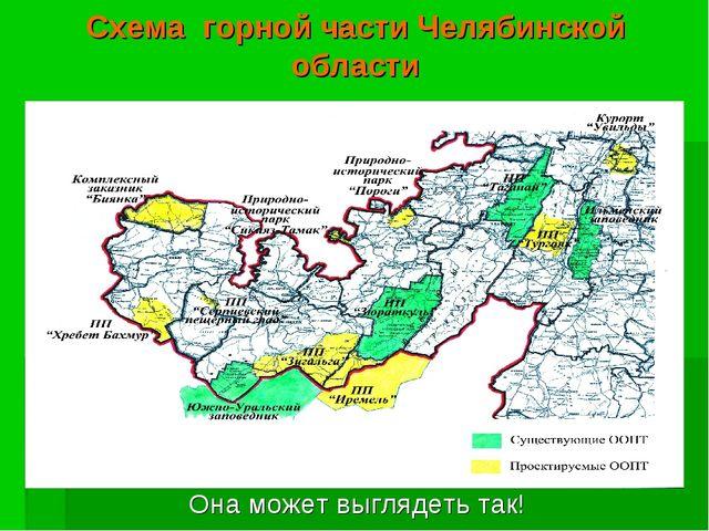 Схема горной части Челябинской области Она может выглядеть так!