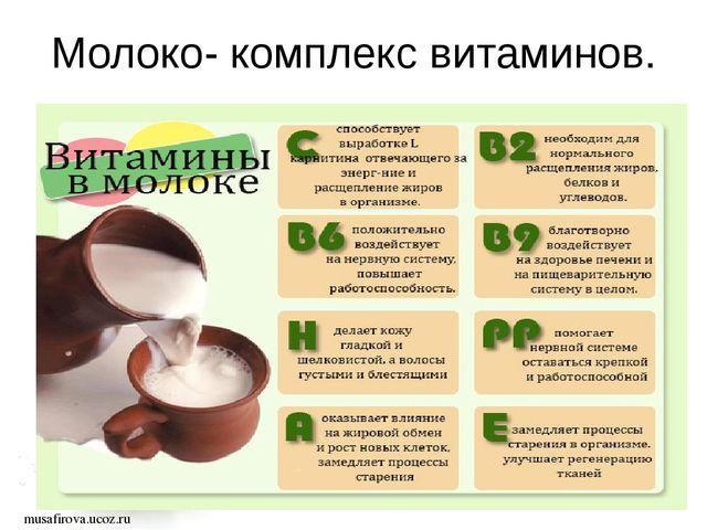 Молоко- комплекс витаминов. musafirova.ucoz.ru