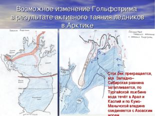 Возможное изменение Гольфстрима в результате активного таяния ледников в Аркт