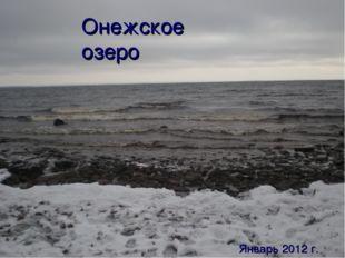 Онежское озеро Январь 2012 г.