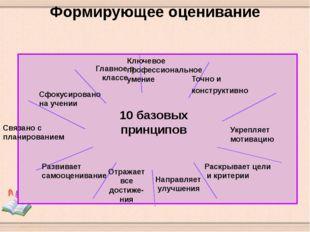 Формирующее оценивание Главное в классе 10 базовых принципов Связано с планир