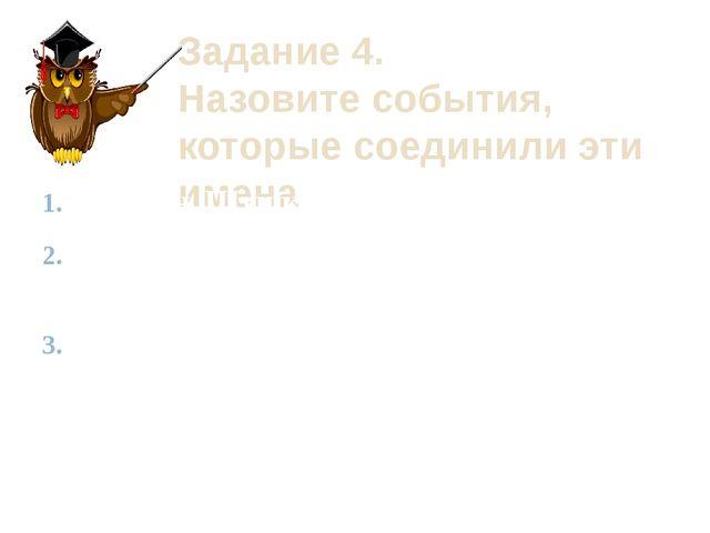 Задание 4. Назовите события, которые соединили эти имена Ельцин, Шушкевич, Кр...