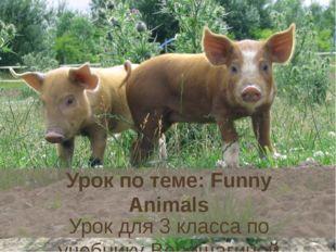 """Урок по теме: Funny Animals Урок для 3 класса по учебнику Верещагиной """"Englis"""