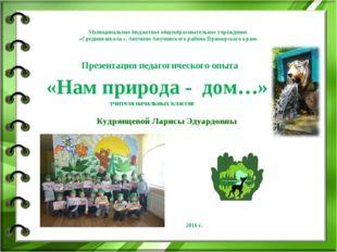 Муниципальное бюджетное общеобразовательное учреждение «Средняя школа с. Ануч