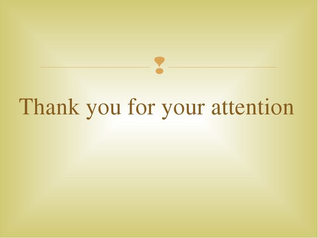 Thank you for your attention 