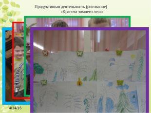 Продуктивная деятельность (рисование) «Красота зимнего леса»