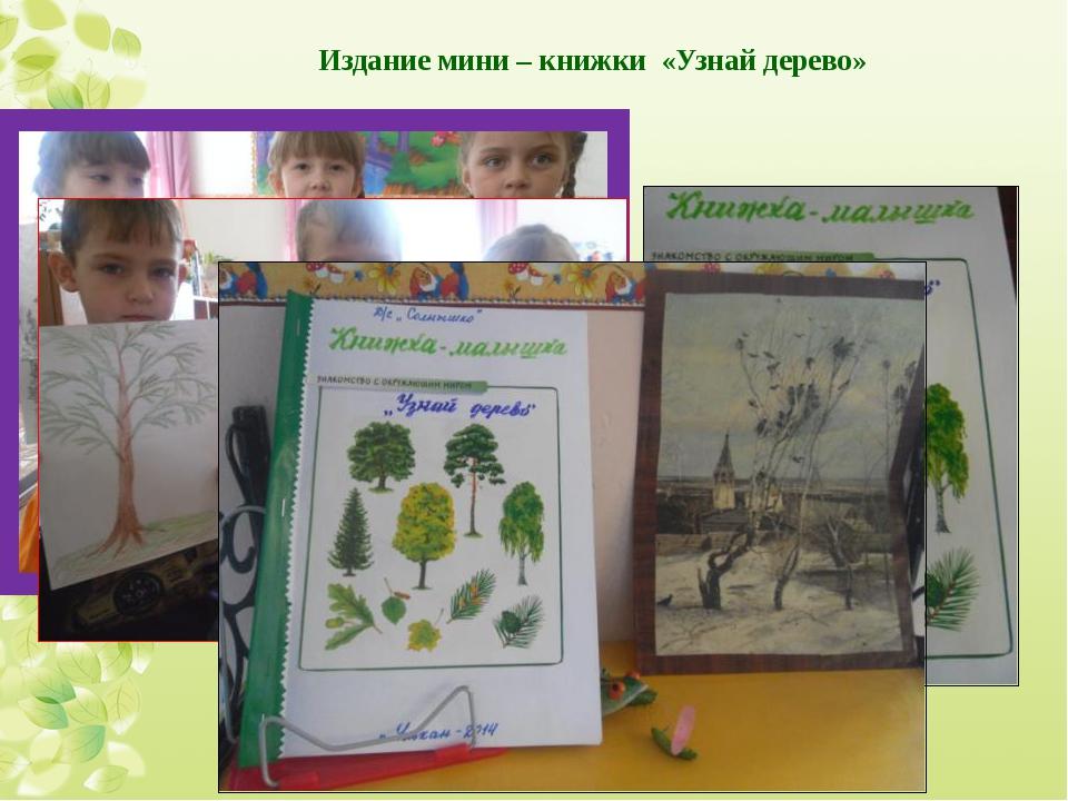 Издание мини – книжки «Узнай дерево»