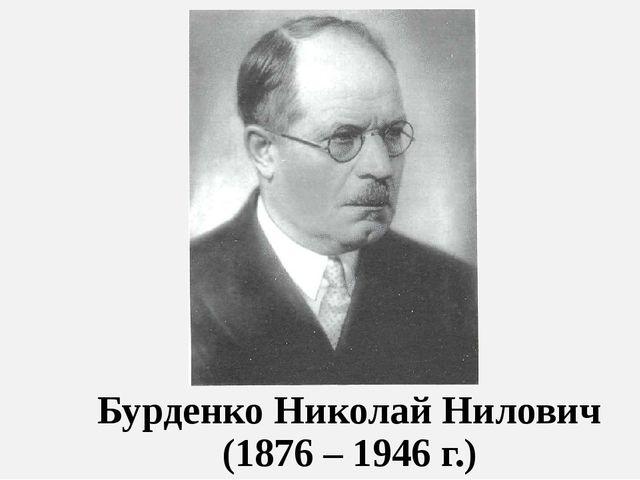Бурденко Николай Нилович (1876 – 1946 г.)