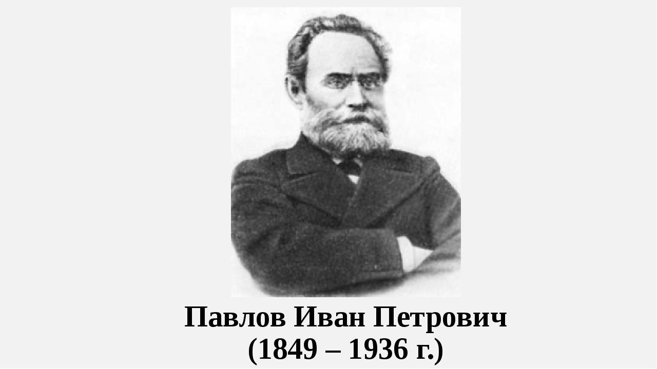 Павлов Иван Петрович (1849 – 1936 г.)