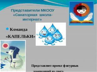 Представители МКООУ «Санаторная школа-интернат» Команда «КАПЕЛЬКИ» Представля