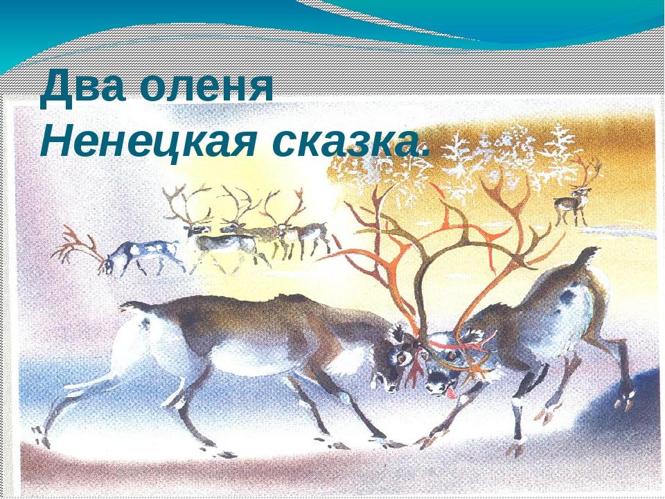 Два оленя Ненецкая сказка.
