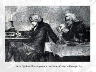 М.А.Врубель. Иллюстрация к трагедии «Моцарт и Сальери. Яд.