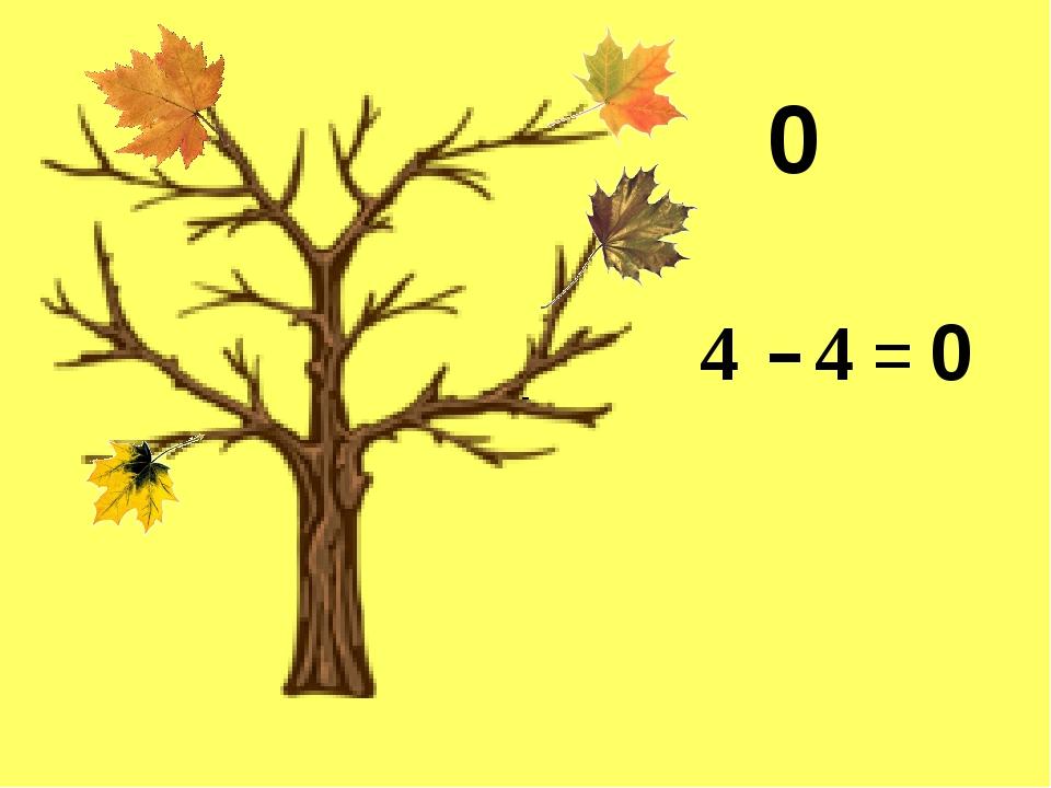 0 4 - - 4 = 0
