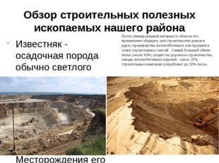 Обзор строительных полезных ископаемых нашего района Известняк - осадочная по