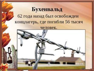 Бухенвальд 62 года назад был освобожден концлагерь, где погибли 56 тысяч чело