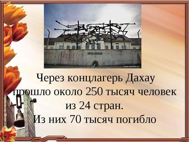 Через концлагерь Дахау прошло около 250 тысяч человек из 24 стран. Из них 70...