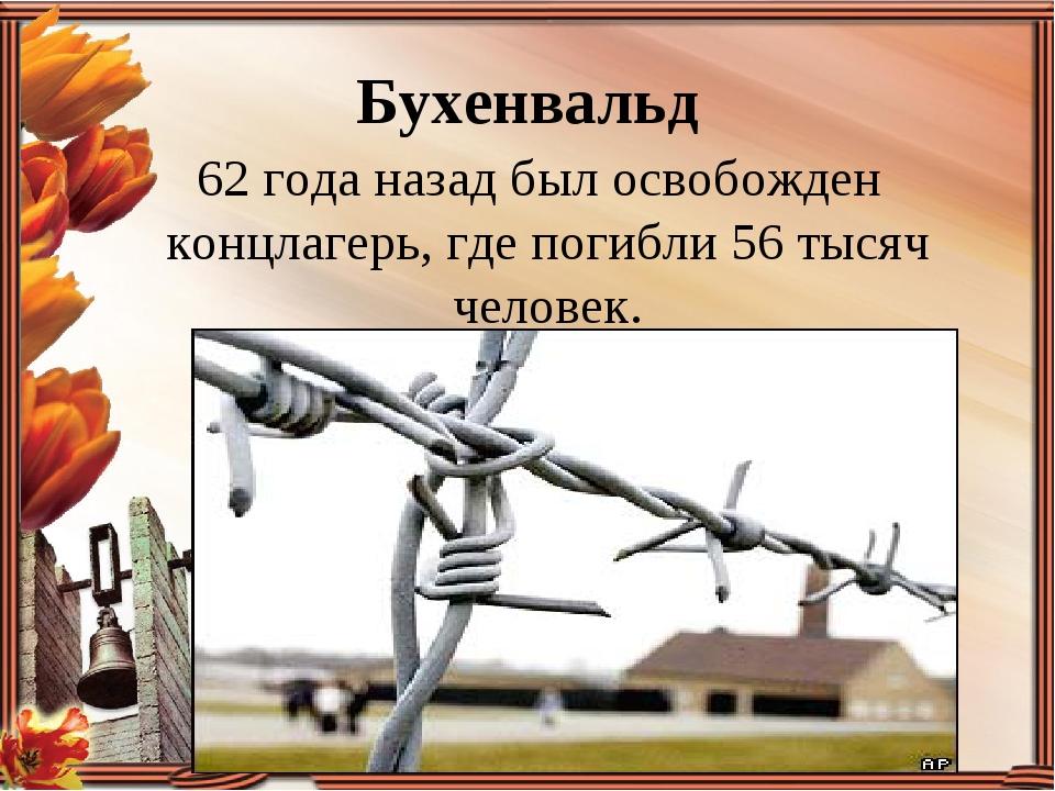 Бухенвальд 62 года назад был освобожден концлагерь, где погибли 56 тысяч чело...