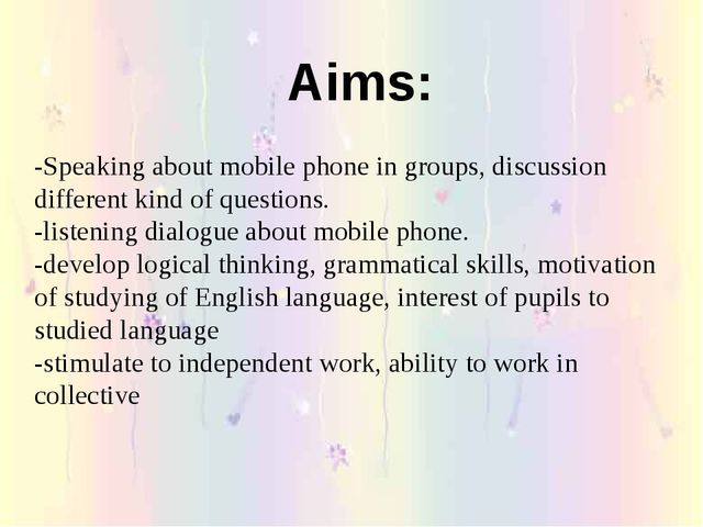 -Speaking about mobile phone in groups, discussion different kind of question...