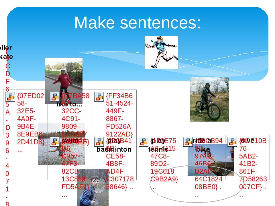 Make sentences: in summer.