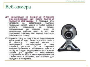 Веб-камера Для организации на бескрайних Интернета видеоконференций (или прос