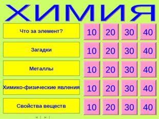 10 20 30 40 10 20 30 40 10 20 30 40 10 20 30 40 10 20 30 40 Что за элемент? З