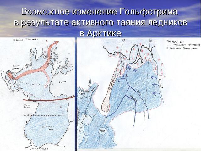 Возможное изменение Гольфстрима в результате активного таяния ледников в Аркт...