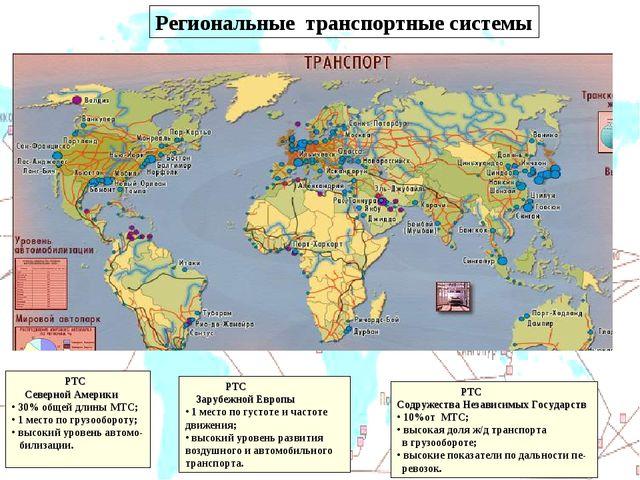 Региональные транспортные системы ОДНАКО МИРОВЫЕ ГРУЗОВЫЕ И ПАССАЖИРСКИЕ ПЕРЕ...
