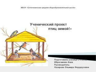 МБОУ «Елпачихинская средняя общеобразовательная школа» Ученический проект «По