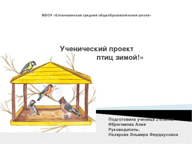 МБОУ «Елпачихинская средняя общеобразовательная школа» Ученический проект «По...