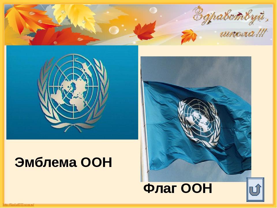 Эмблема ООН Флаг ООН