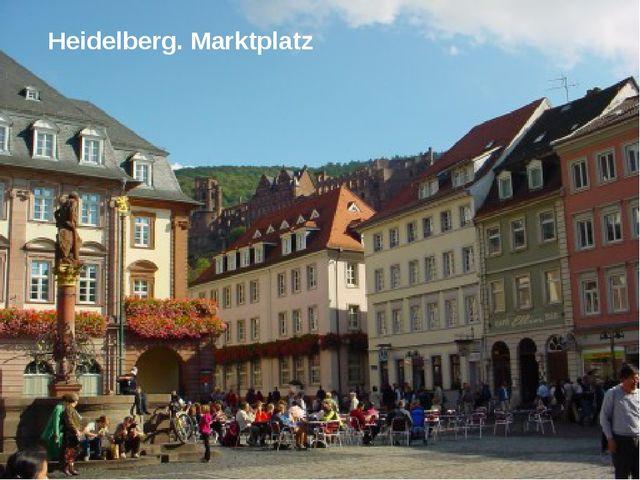 Heidelberg. Marktplatz