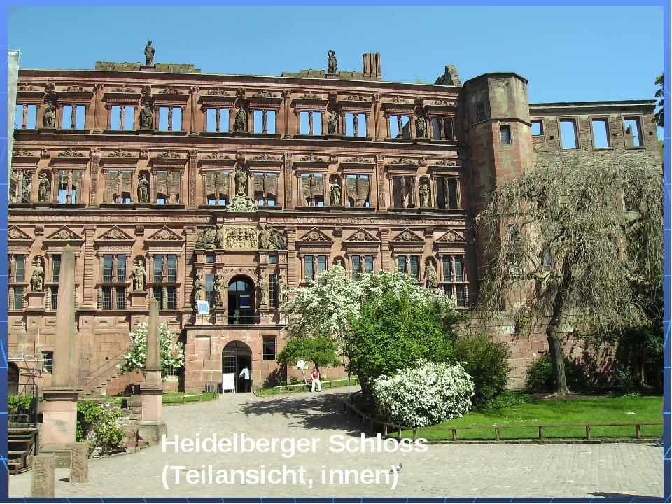 Heidelberger Schloss (Teilansicht, innen)