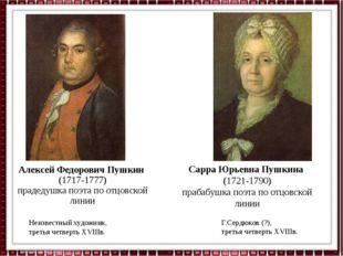 Алексей Федорович Пушкин (1717-1777) прадедушка поэта по отцовской линии Неиз