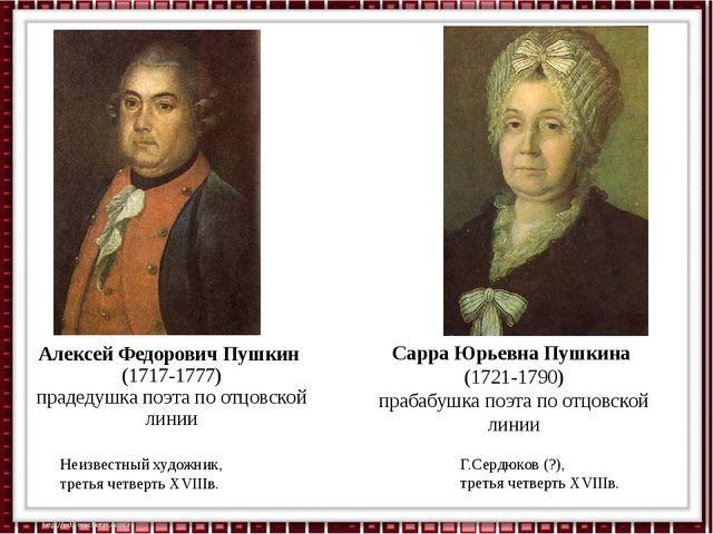 Алексей Федорович Пушкин (1717-1777) прадедушка поэта по отцовской линии Неиз...