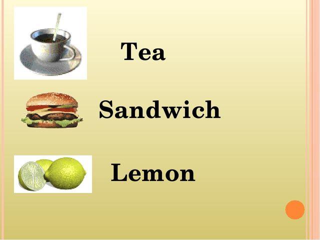 Tea Sandwich Lemon