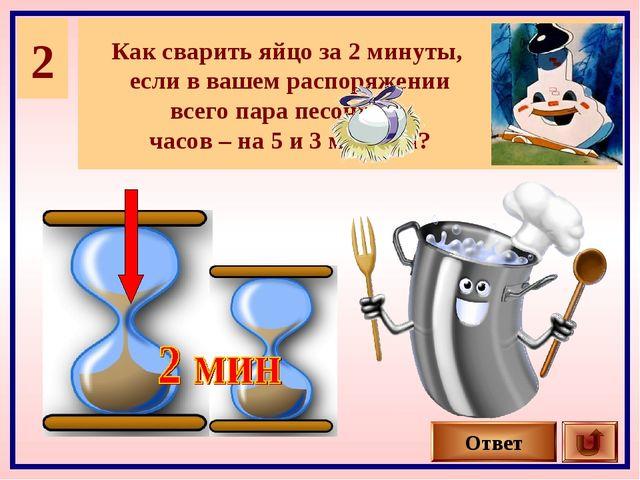 2 Как сварить яйцо за 2 минуты, если в вашем распоряжении всего пара песочных...
