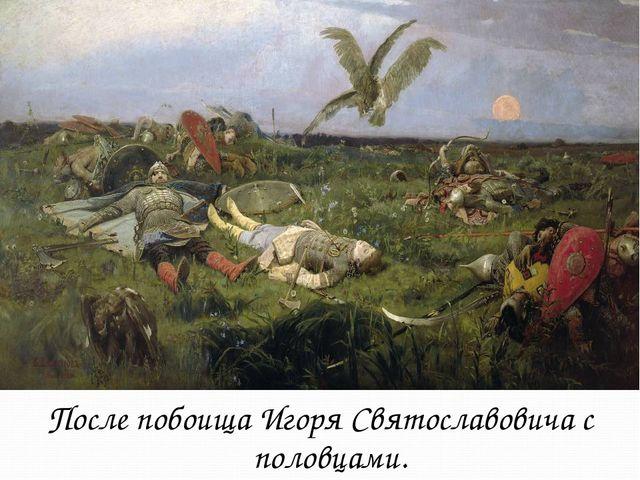 После побоища Игоря Святославовича с половцами.