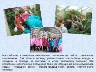 Многообразна и интересна внеклассная экологическая работа с младшими школьник