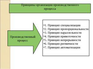 1. Принцип специализации 2. Принцип пропорциональности 3. Принцип параллельно