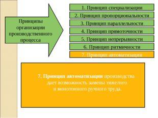 7. Принцип автоматизации производства дает возможность замены тяжелого и моно
