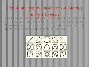 Осциллографический метод (метод фигур Лиссажу) Сигналы измеряемой частоты fx