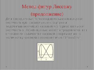 Метод фигур Лиссажу (продолжение) Для определения fx проводят горизонтальную