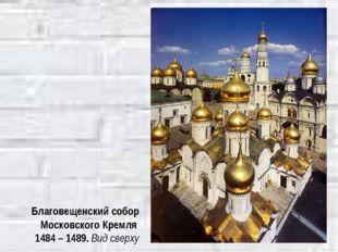 Благовещенский собор Московского Кремля 1484 – 1489. Вид сверху