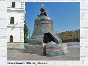 Царь-колокол. 1735 год. 200 тонн