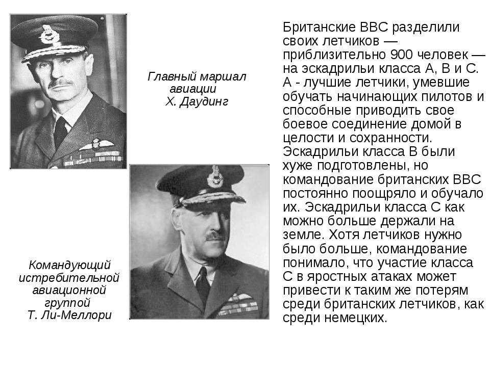 Командующий истребительной авиационной группой Т. Ли-Меллори Британские ВВС р...