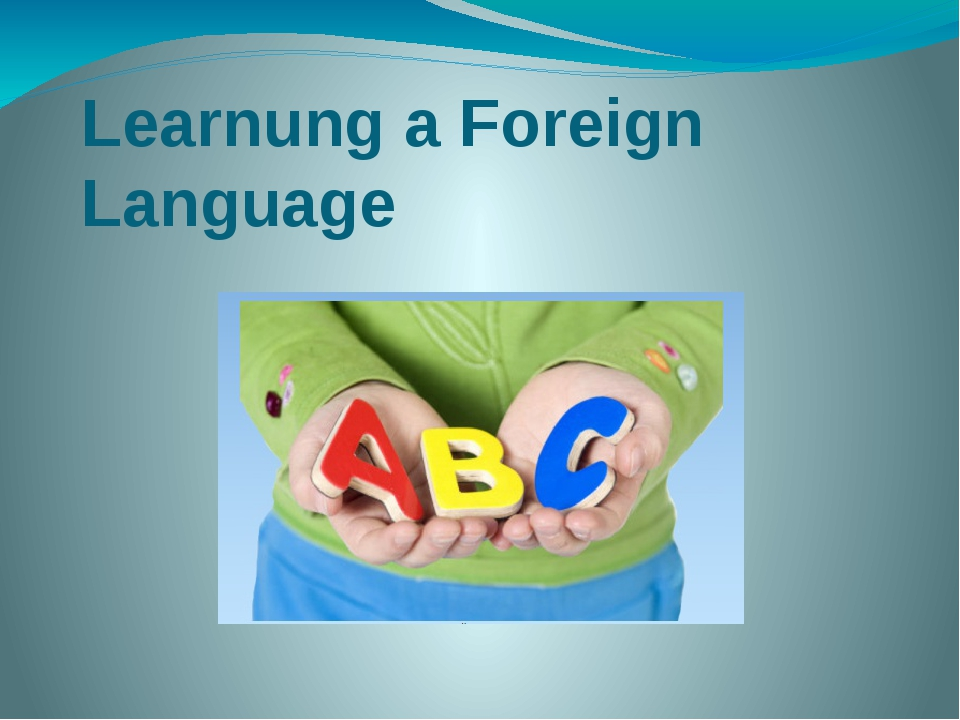 Learnung a Foreign Language