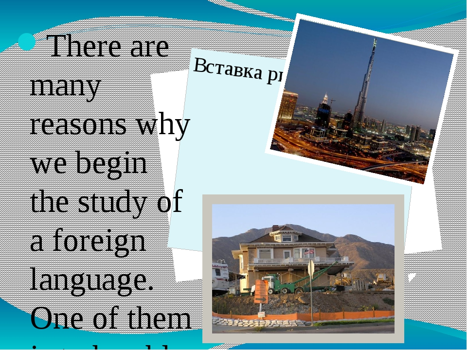There are many reasons why we begin the study of a foreign language. One of...