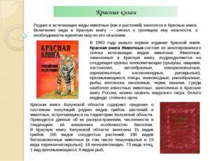 Красные книги Редкие и исчезающие виды животных (как и растений) заносятся в